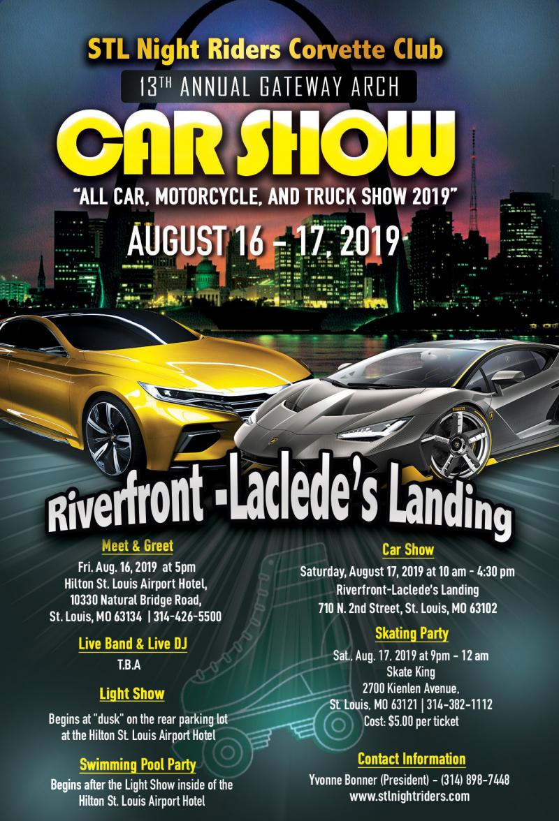 STL NIGHT RIDERS CORVETTE CLUB - Car Show Poster (2019)